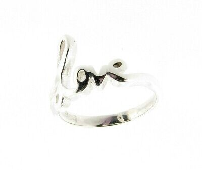 Quality Sterling Silver Script Letter Love Ring - Hand Finished  *RRP £31.99*