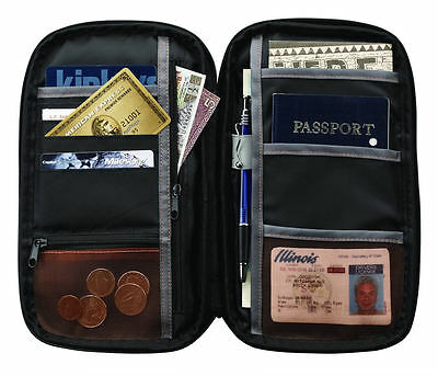 Lewis N. Clark RFID Blocking Document Organizer Passport & ID Case Wallet Holder
