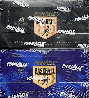 1995 Pinnacle Factory Sealed Baseball 2-Box Hobby Lot (Series 1 & 2)