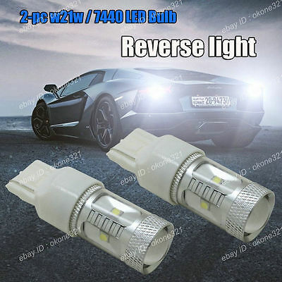 2x 30W High Power White Projector LED Backup Reverse Light T20 7440 7443 Bulb 1A