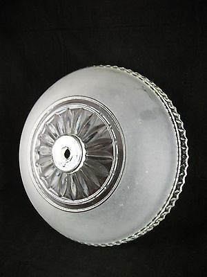 """VTG Art Deco Ceiling Light Fixture Shade Antique Frosted Glass 10"""" Chandelier"""
