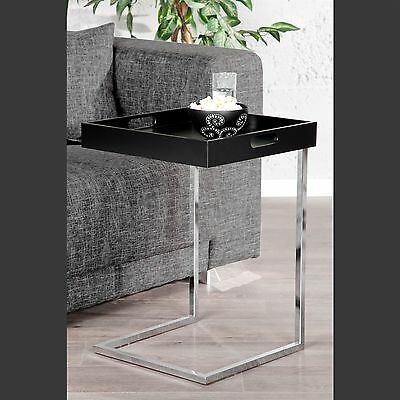 """SQUARE DESIGN COFFEE TABLE """"TABLET""""   black, 23""""x15.5""""x15.5""""   removeable tray"""