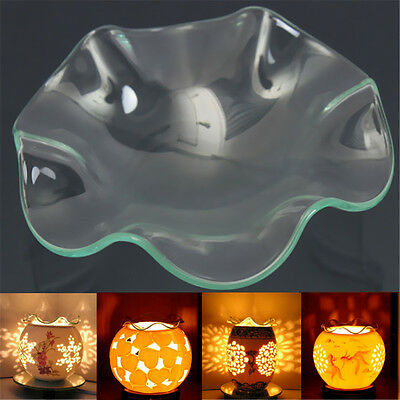 ReplaceTransparent Glass Dish Electric Fragrance Diffuser Lamp Oil Container