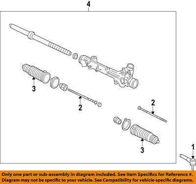 FORD OEM Steering Gear-Outer Tie Rod End 7L1Z3A130L