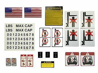 Forklift  Decal Kit Universal Self Adhesive Stickers. OUR NO 1 SELLER.