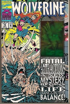 Wolverine #75 Marvel 11/93 X-Men Fatal Attractions Finale Hologram Cover Nice Nm