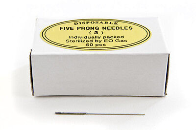 KP Permanent Makeup Disposable FIVE PRONG NEEDLES - ROUND (Box of 50 pieces)