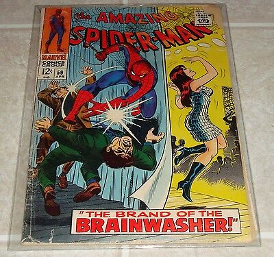 1968 Amazing Spider-Man #59 1st Print 1st Mary Jane Watson Cover Stan Lee