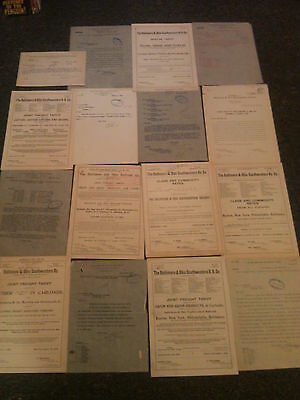BALTIMORE & OHIO RAILROAD lot * 16 documents 1897-1911 * Monopoly * B&O * signed