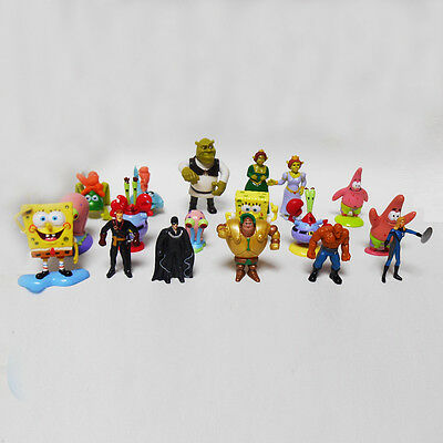 Lotto 18 sopresine miste Spongebob Shrek Fantastici 4 BIP kinder kit stock #D