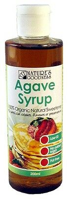 Agave Syrup | 200ml (Organic Natural Sweetener) | NATURE'S GOODNESS