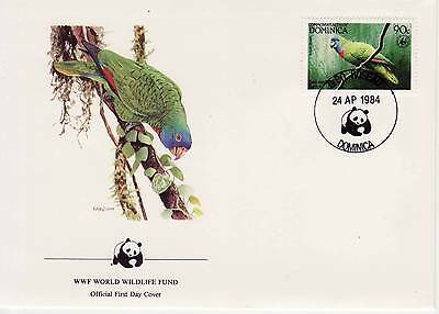 WWF Souvenir First Day Cover, Endangered Species, Dominica SHS Panda 1984