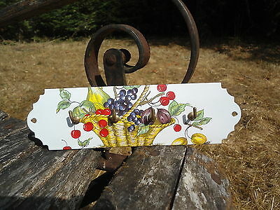 ACCR TORCHONS / PORTE CLES EMAILLE 4 CROCHETS Panier EMAIL VERITABLE FAB. FRANCE