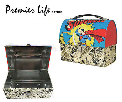 Superman Domed Tin Tote Kids Lunch Box