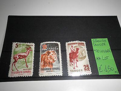 "Spanish Tanger ""telegraph"" Mnh** Lot (Cat.x)"
