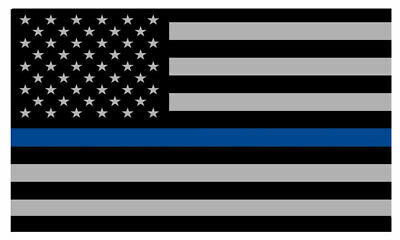 """Police Officer Thin Blue Line American Flag Decal Sticker 5"""" Inches"""