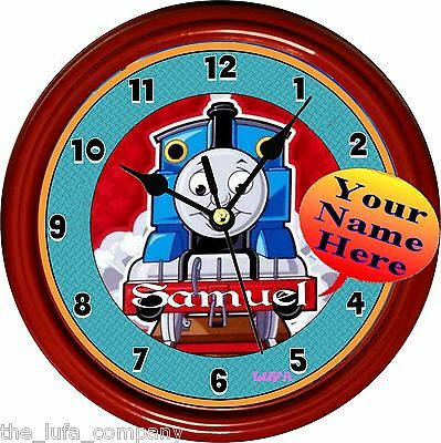 """Personalized """"thomas The Tank"""" Red Wall Clock"""