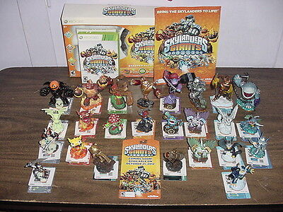 Collection of 25 Skylanders Giants Figures with XBOX 360 Complete Game