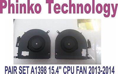 """CPU Fan Left + Right Set for Macbook Pro Retina 15.4"""" A1398 Late 2013 Mid 2014"""