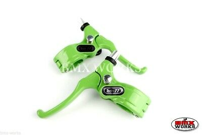 Genuine Dia-Compe Tech 77 Freestyle Green Brake Levers Pairs - Old School BMX