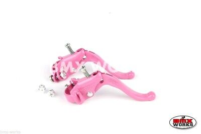 Genuine Dia-Compe MX123 Tech 4 Freestyle Pink Brake Levers Pairs Old School BMX