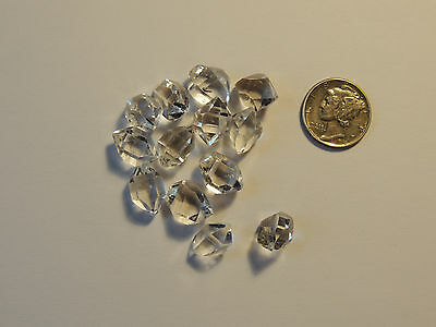 Herkimer Diamonds (10g) B grade 12mm from Middleville, NY  (9128)