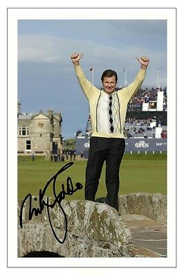 Nick Faldo The Open 2015 Golf Signed Autograph Photo Print