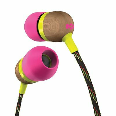 House Of Marley Smile Jamaica Earphones - Lily Pink Headphones