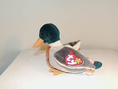 Jake Mallard Duck 1998 Original Beanie Baby with Ty inc. PE pellets (7289)