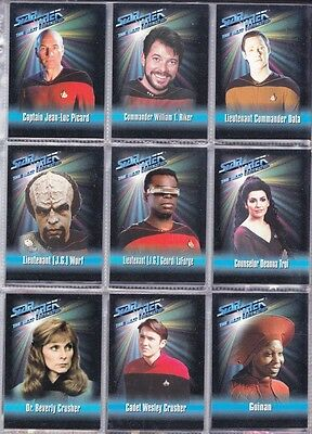Star Trek Playmates Action Figure Trading Cards Master Set 102 Cards 1993 - 1996