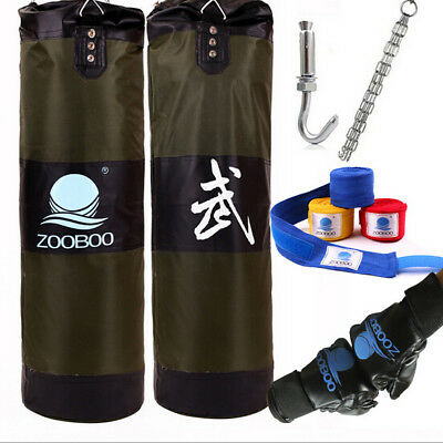 MMA Boxing Heavy Punching Training Practice Sand Bag(Empty) with  Four Parts Set