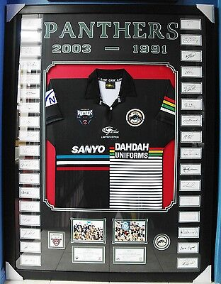 Penrith Panthers NRL Rugby League 1991 & 2003 jersey signed limited edition