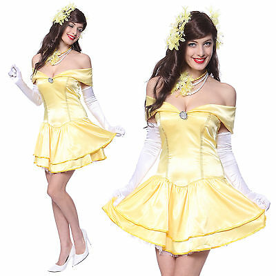 Halloween Cosplay costume Beauty and the Beast Bella e Bestia Giallo Vestito