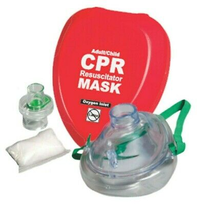 CPR Rescue Mask Adult/Child pocket resuscitator in hard case with belt clip WNL