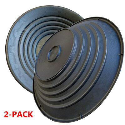 """2 Pack - Gold Pans Traps Fine Gold in Dirt with Extra Wide Riffles Pan 15"""" Large"""