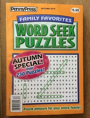 PENNY PRESS LARGE PRINT Word Search Seek Find Family Favorites Dell FAST  SHIP