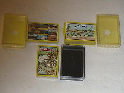 Vintage Sealed  Playing Cards in plastic cases lot of 2    arizona & san diego