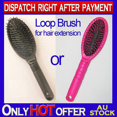 Professional Loop Pin Cushion Brush For Human Hair Extension Care Static Free