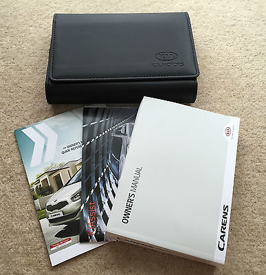Kia Carens Genuine Owners Manual Handbook With Wallet 2013-2015 #2749