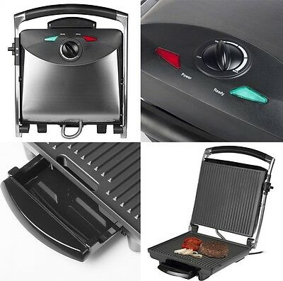 Plancha Grill Tapa Acero Inoxidable Tristar-2848, Antiadherente, 2000 W
