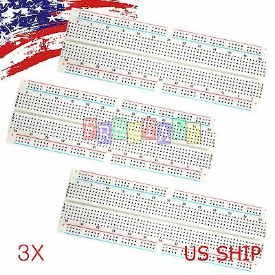 1X MB-102 830 Point Prototype PCB Solderless Breadboard Protoboard