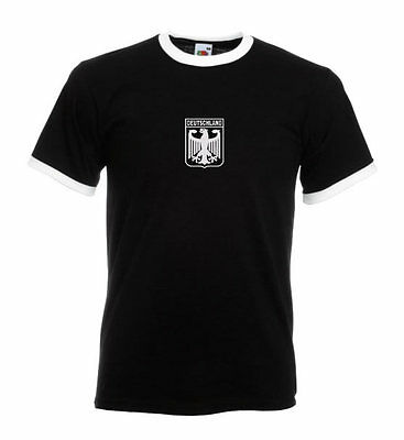 Retro West Germany Football Shirt, World Cup 1974 , 72 Olympics,Muller B/W