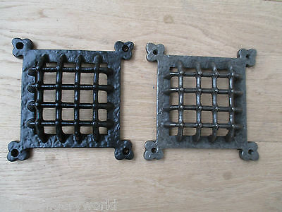 Cast Iron Vintage Medieval Gothic  Window Door Ventilation Grill Aperture Cover