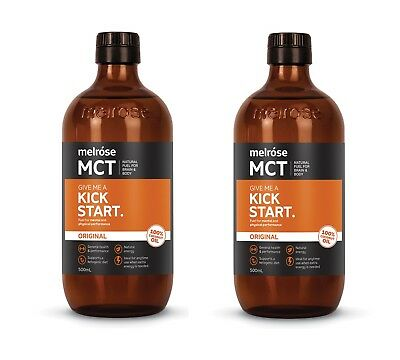 2 Bottles X Melrose MCT Oil Original Kick Start 500mL Medium Chain Triglycerides