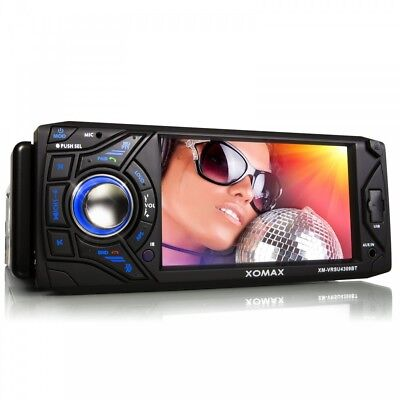 Car Stereo Radio Head Unit With Display Bluetooth Sd Usb Mp3 Aux 1Din Without Cd