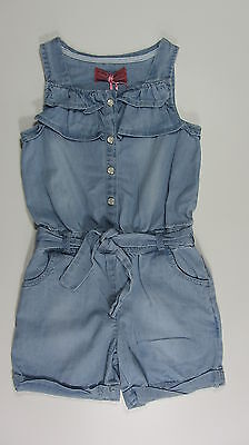 NEW DENIM PLAYSUIT SHORTIE BLUE  AGE 3/4, 4/5, 5/6 and 7/8 YEARS