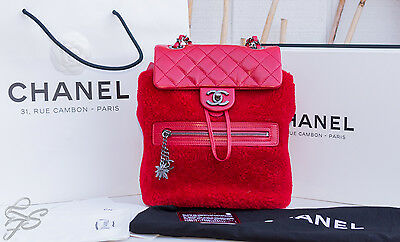 662218e34b39 CHANEL CLASSIC MOUNTAIN QUILTED BACKPACK in Red 2015 Limited Edition ...