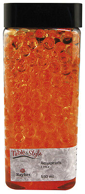 Perle d'eau pour fleur (bille gel Aquapearl) Orange - Rayher