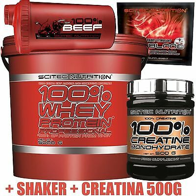 Scitec Nutrition Proteine Whey professional 5Kg +Creatina 500gr +Shaker +Hot