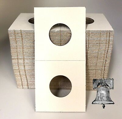 100 2x2 BUFFALO Nickel Mylar Cardboard Coin Holder Flip BCW Storage Case 21.2mm